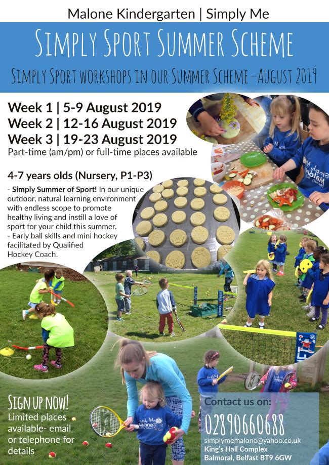 summer camp leaflet
